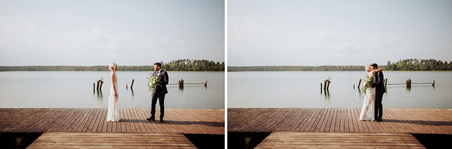 first look nad jeziorem na Mazurach