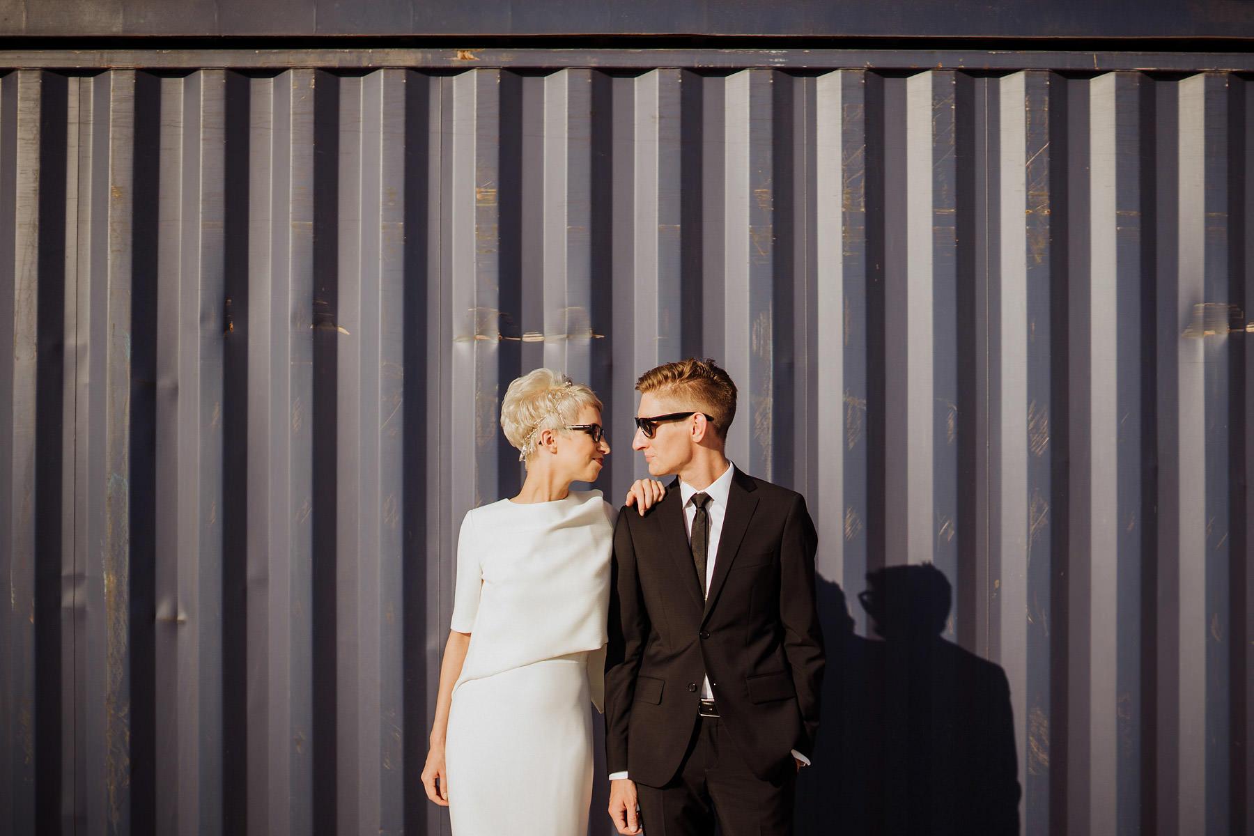 industrialna sesja ślubna