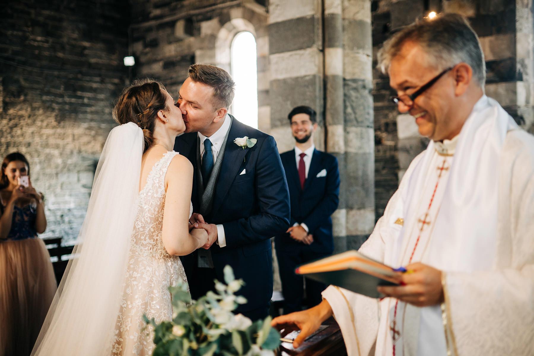 ceremonia ślubu w portovenere