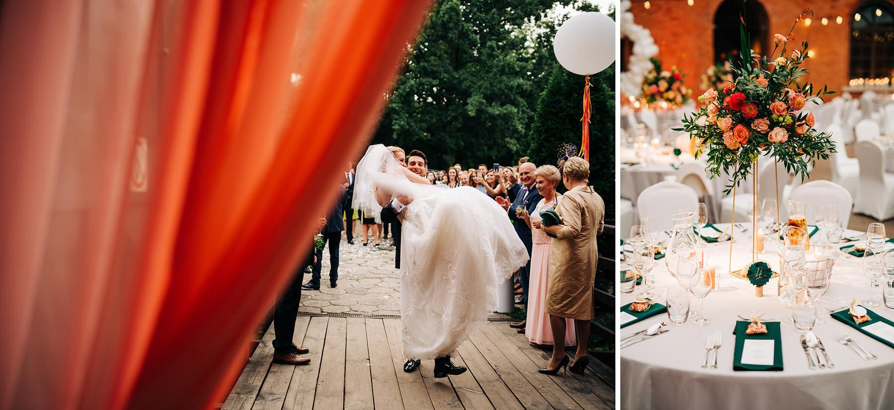ślub w stylu industrialnym forteca kręgliccy