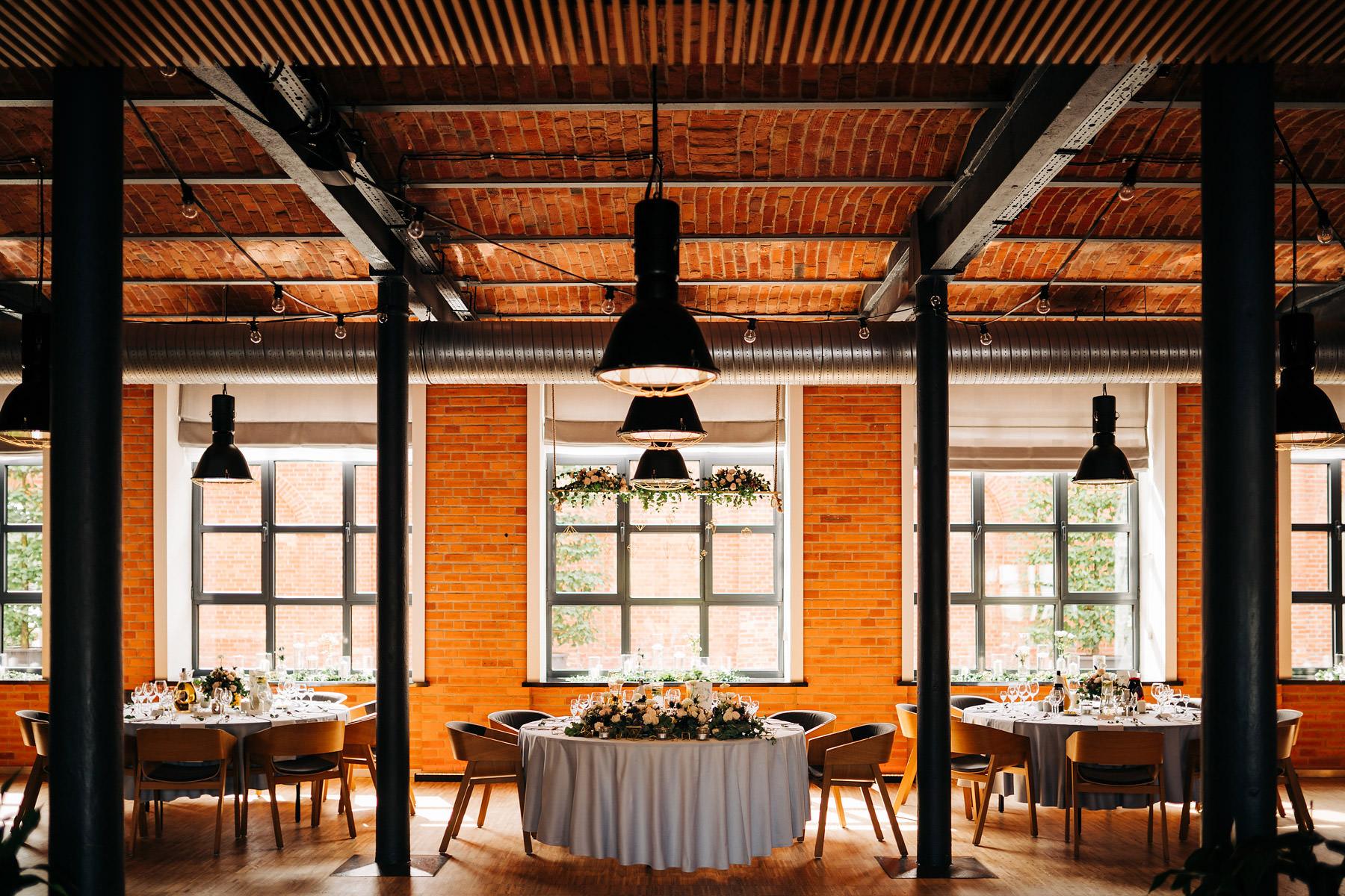 industrialny ślub fabryka wełny